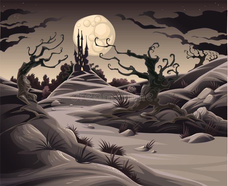 Het landschap van de verschrikking. royalty-vrije illustratie