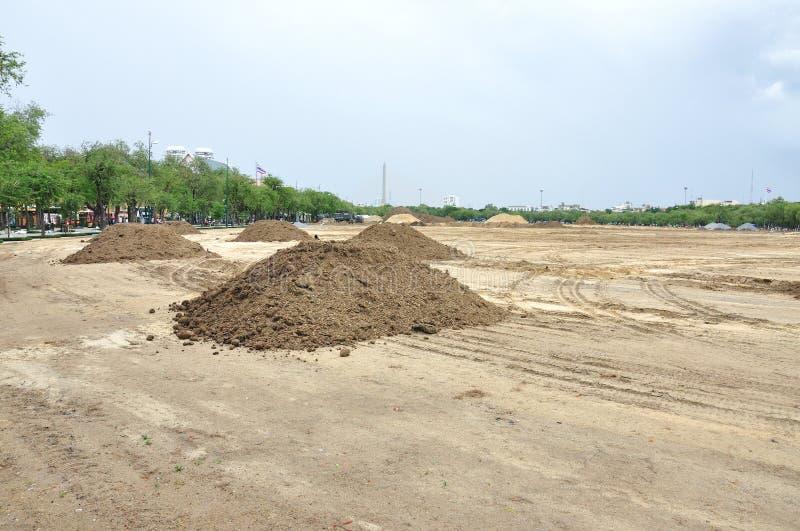 Het landschap van de voorbereiding voor bouw royalty-vrije stock foto