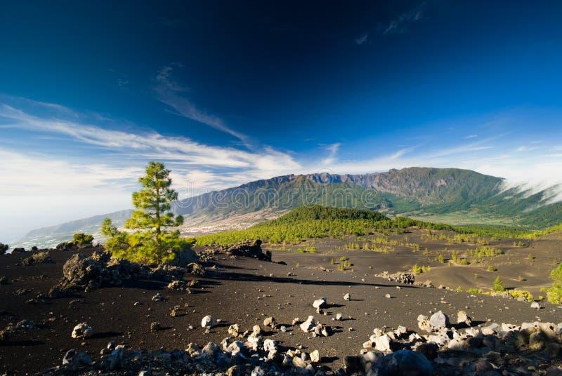 Het landschap van de vulkaan stock foto's