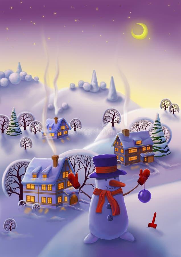 Het landschap van de winter vector illustratie