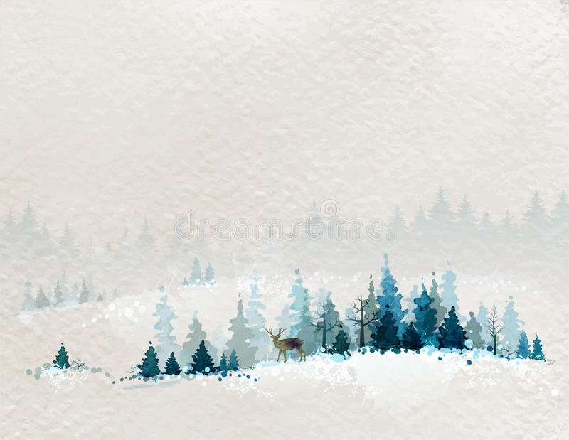 Het landschap van de winter vector illustratie