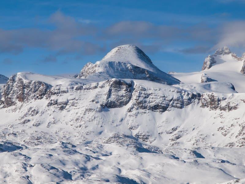 Het landschap van de winter in de Alpen royalty-vrije stock foto