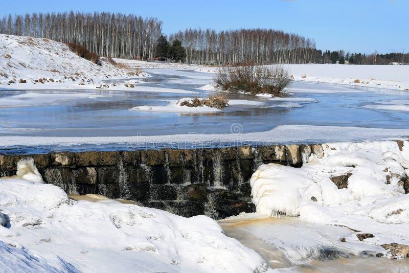 Het landschap van de winter in Finland royalty-vrije stock foto