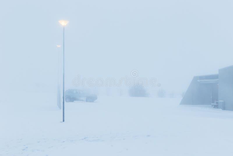 Het landschap van de winter in IJsland royalty-vrije stock foto
