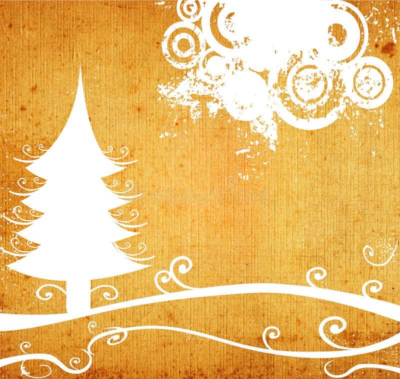 Het landschap van de winter met cirkels stock illustratie
