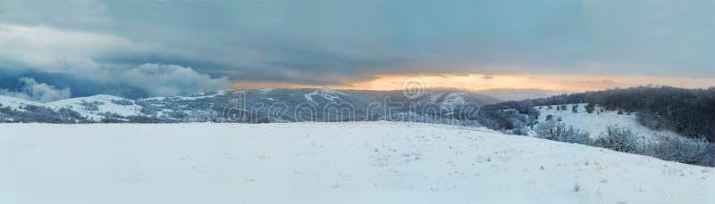 Het landschap van de winter. Panorama. stock foto