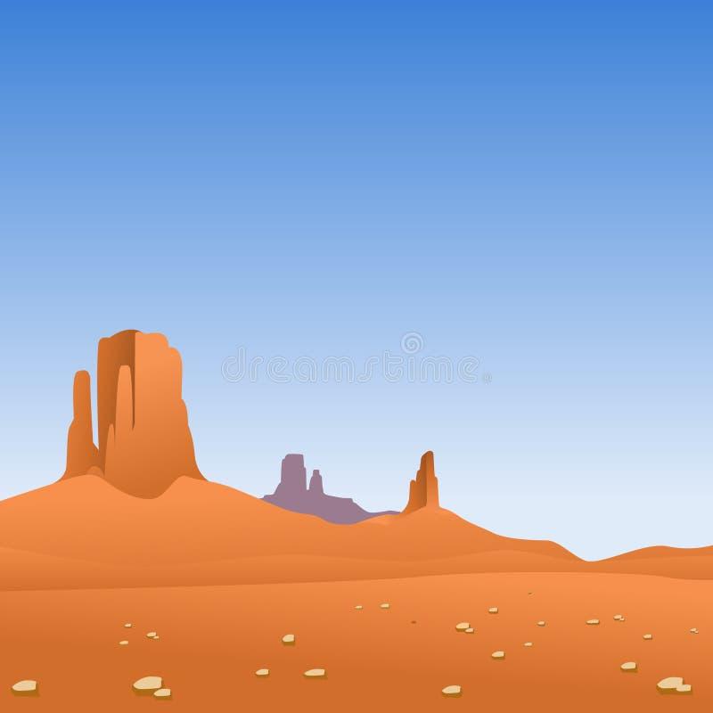 Het Landschap van de woestijn royalty-vrije illustratie