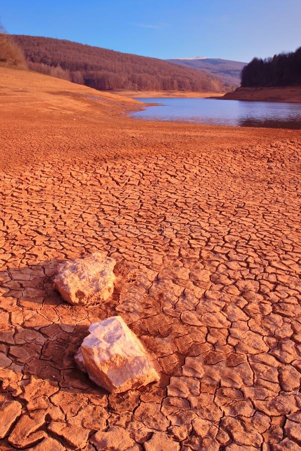 Het landschap van de woestijn in Mavrovo stock foto's