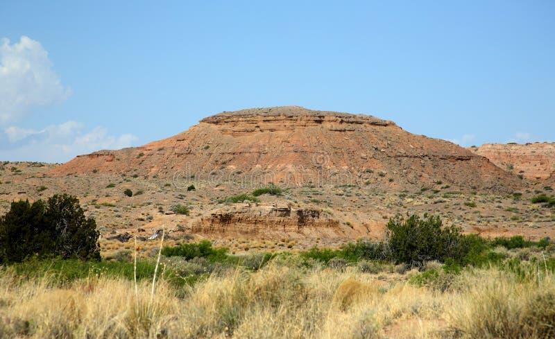 Het landschap van de zandsteenberg in centraal New Mexico stock afbeeldingen