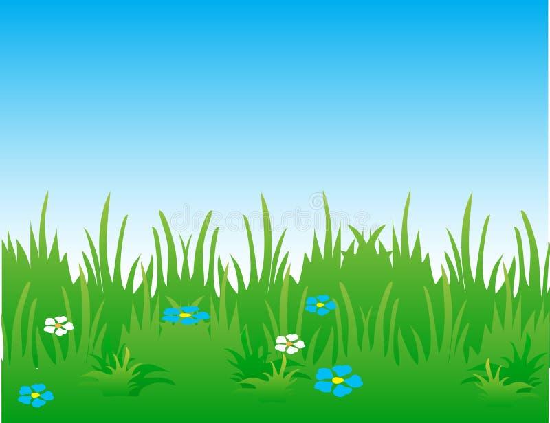 Het landschap van de zomer. stock illustratie