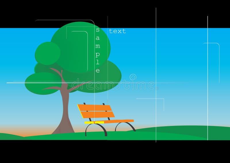De zomerlandschap vector illustratie