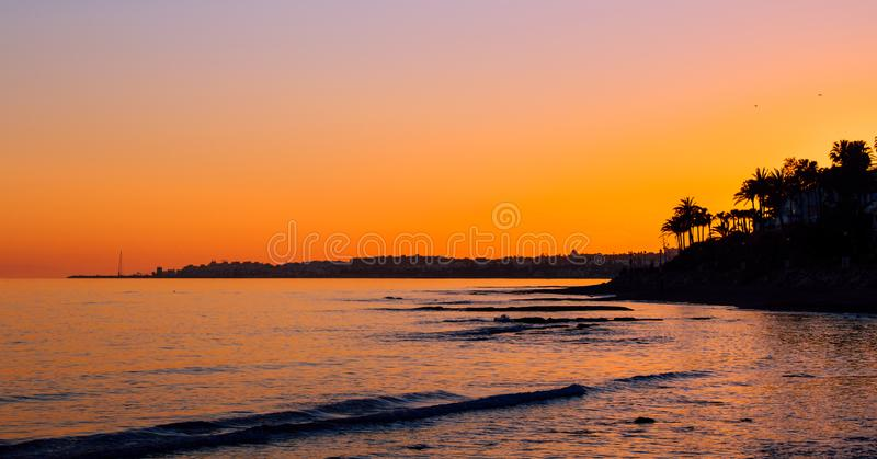 Het landschap van de zonsondergang royalty-vrije stock fotografie