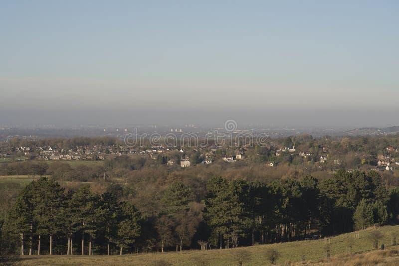 Het landschap van Derbyshire Bamford royalty-vrije stock afbeelding