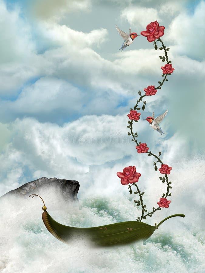 Het landschap van Fairytale vector illustratie