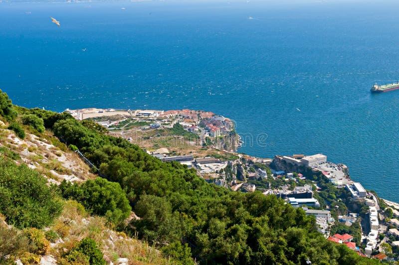 Het landschap van Gibraltar stock afbeeldingen