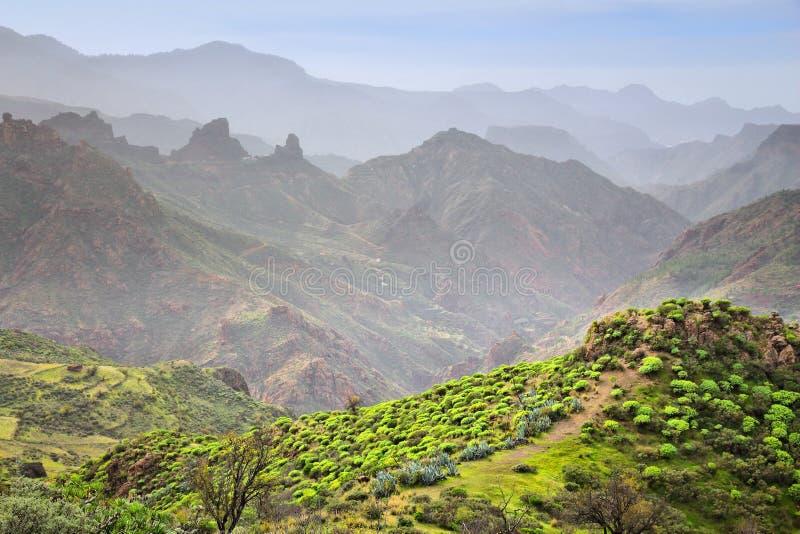 Het landschap van Gran Canaria stock afbeelding