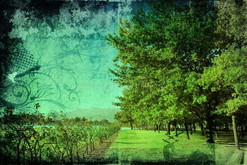 Het landschap van Grunge royalty-vrije illustratie