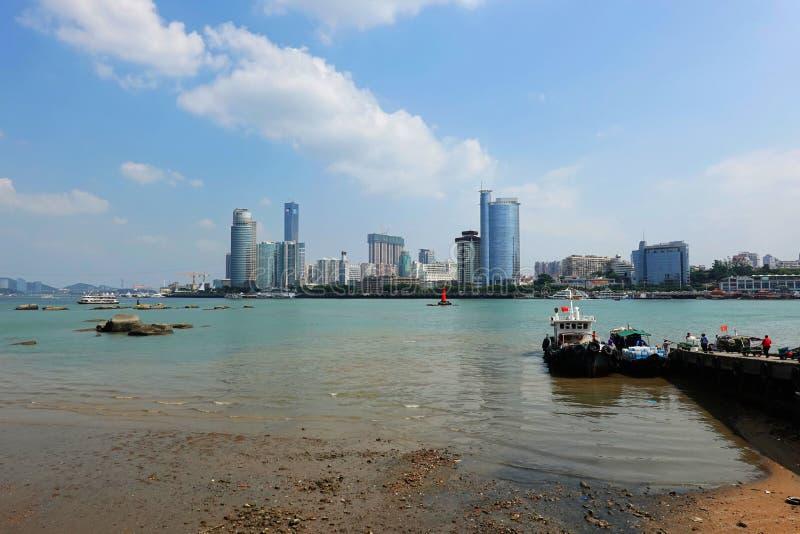 Het landschap van Gulangyu-eiland, China royalty-vrije stock afbeeldingen