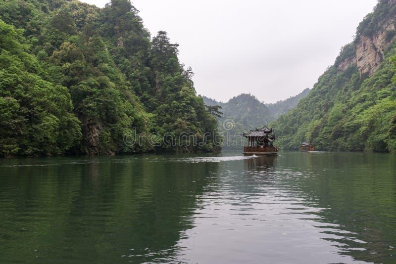 Het landschap van het Baofengmeer stock foto