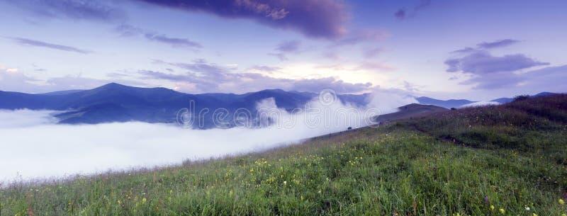 Het landschap van het bergplateau royalty-vrije stock foto