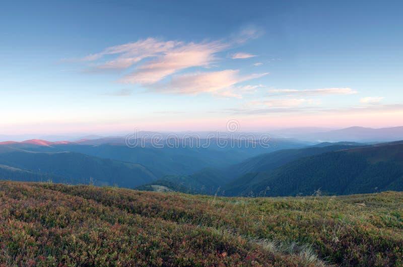 Het landschap van het bergplateau royalty-vrije stock foto's