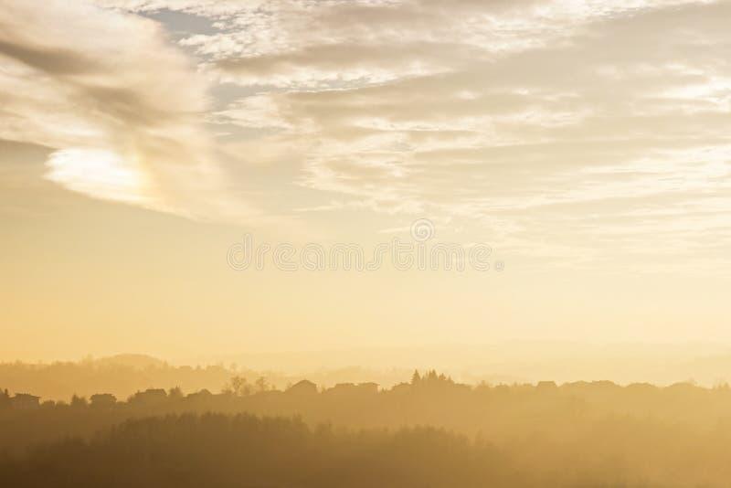Het landschap van het de herfstland stock fotografie