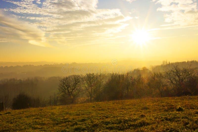 Het landschap van het de herfstland stock foto's