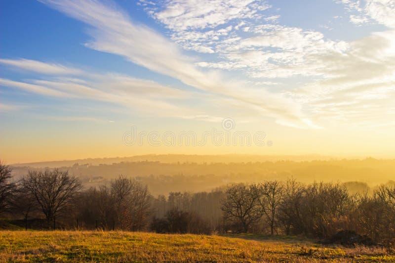Het landschap van het de herfstland royalty-vrije stock foto