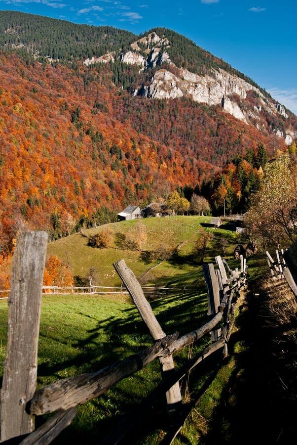 Het landschap van het dorp in Roemenië royalty-vrije stock foto