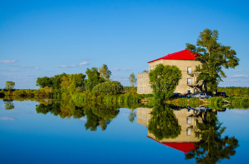 Het landschap van het Haerbin bingjiang moerasland royalty-vrije stock afbeeldingen