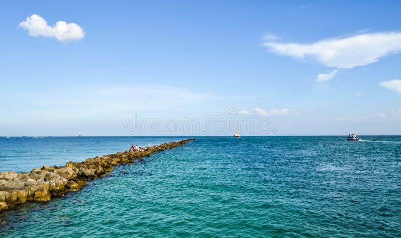 Het Landschap van het het Zuidenstrand van Miami royalty-vrije stock afbeelding