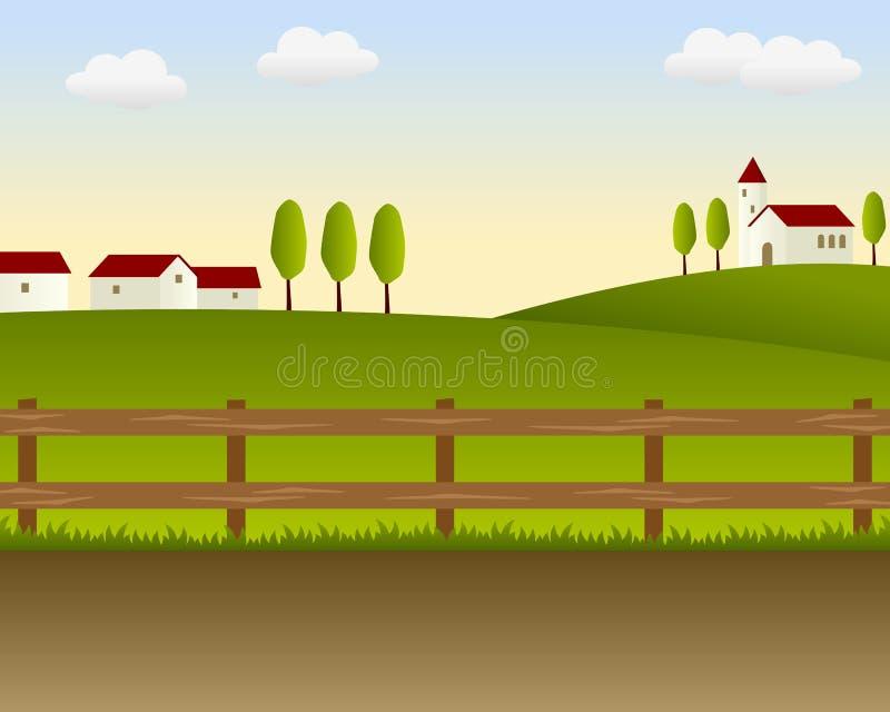 Het Landschap van het land [1] royalty-vrije illustratie