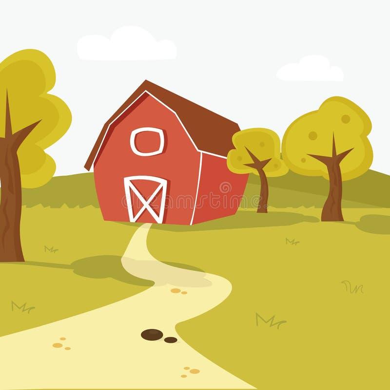 Het Landschap Van Het Landbouwbedrijf Royalty-vrije Stock Afbeeldingen