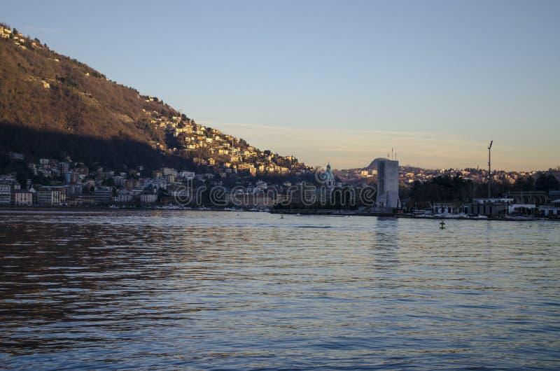 Het landschap van het Meer van Como stock afbeeldingen