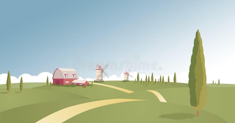 Het landschap van het platteland stock foto's