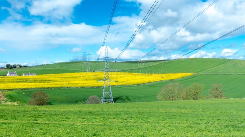 Het Landschap van het plattelandslandbouwbedrijf stock afbeeldingen