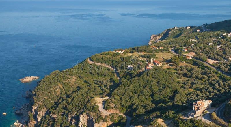 Het landschap van het Rezevicidorp, Montenegro royalty-vrije stock foto's