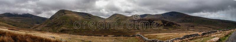 Het landschap van het Snowdoniapanorama royalty-vrije stock fotografie