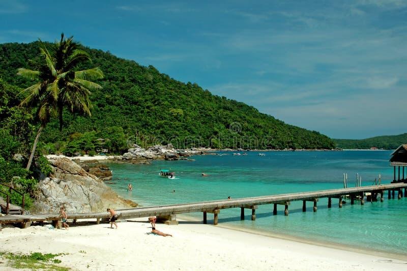 Het landschap van het strand royalty-vrije stock afbeelding
