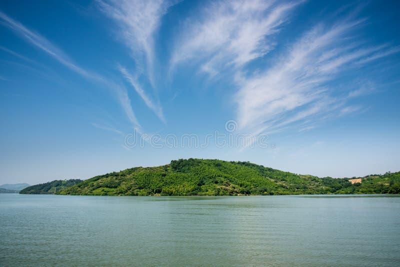Het landschap van het Tianmumeer royalty-vrije stock afbeeldingen