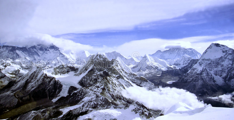 Het Landschap van Himalayan stock afbeelding