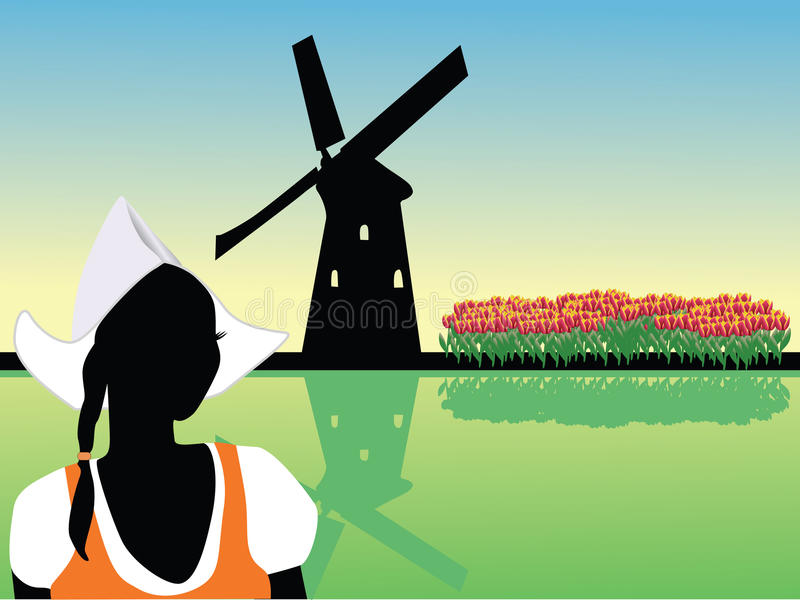 Het landschap van Holland vector illustratie