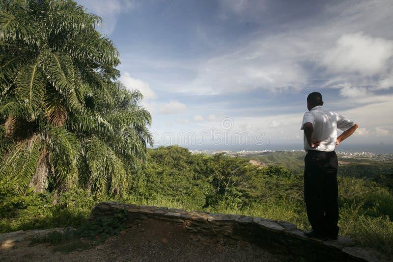 HET LANDSCHAP VAN LA ASUNCION VAN VENEZUELA ISLA MARGATITA VAN ZUID-AMERIKA royalty-vrije stock foto's