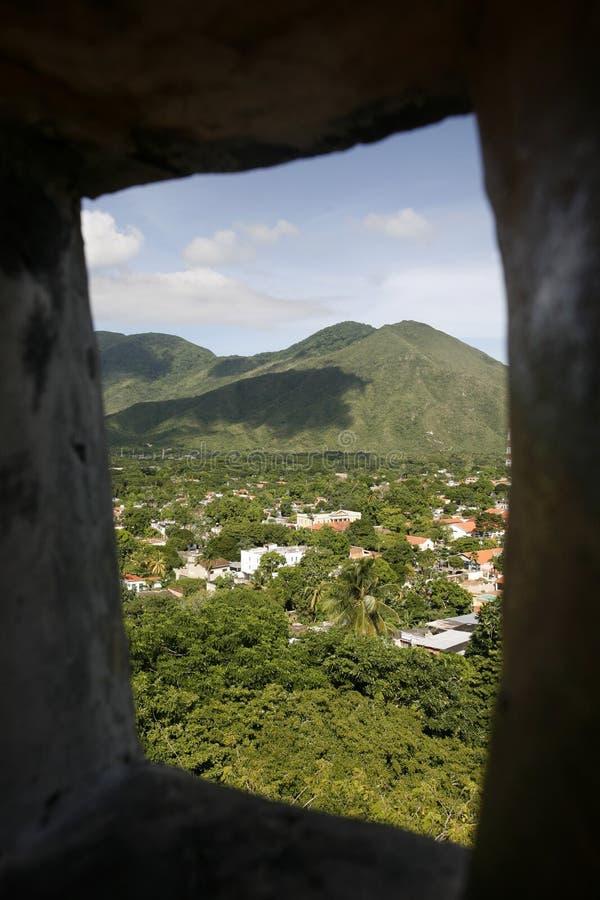 HET LANDSCHAP VAN LA ASUNCION VAN VENEZUELA ISLA MARGATITA VAN ZUID-AMERIKA royalty-vrije stock afbeelding