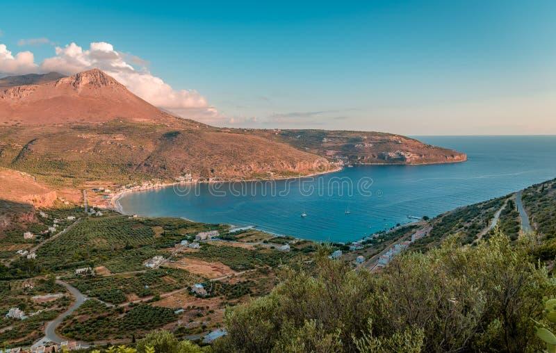 Het landschap van Laconianmani royalty-vrije stock foto
