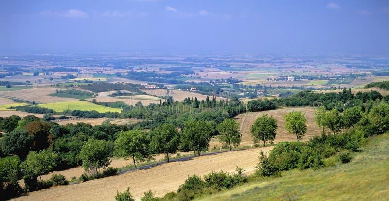Het landschap van Languedoc stock afbeelding