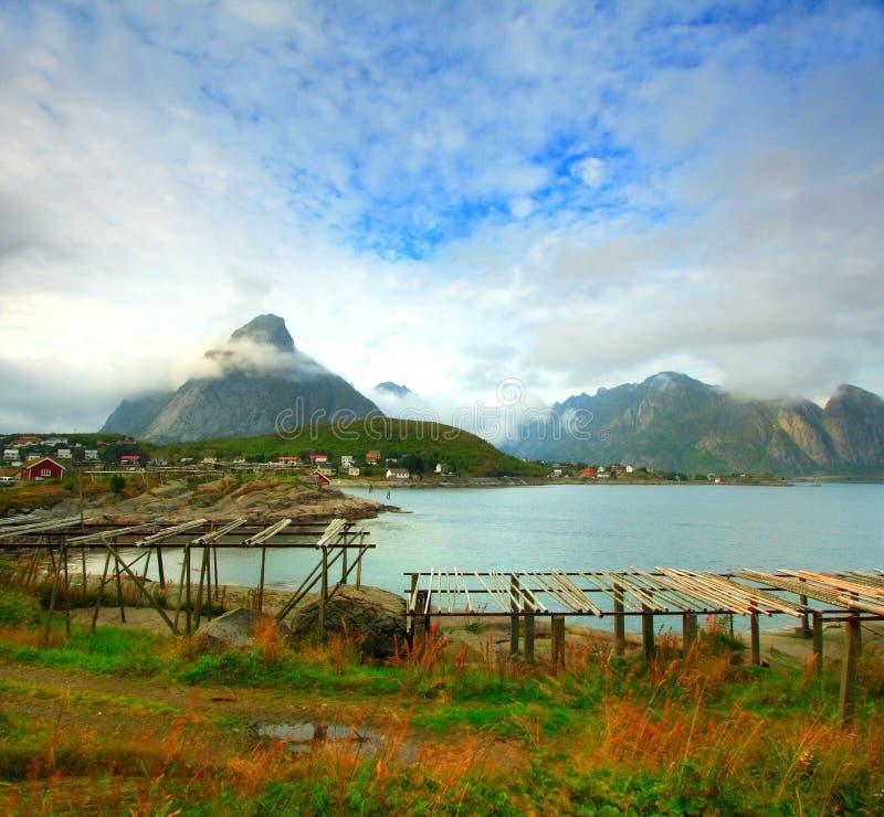 Het landschap van Lofoten stock foto