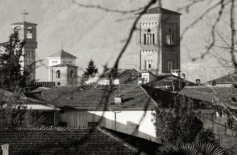Het landschap van Luca Toscanië Italië van klokketorens royalty-vrije stock afbeeldingen