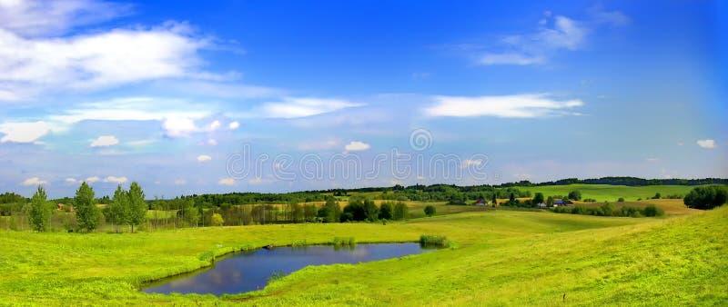 Het landschap van Mazurian stock afbeeldingen