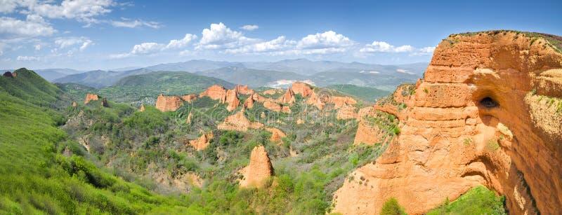 Het Landschap van Medulas van Las stock foto